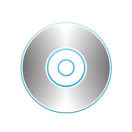 blu ray: Illustration of PC Accessories Cd Dvd Blu-Ray Disk isolated on a white background Stock Photo