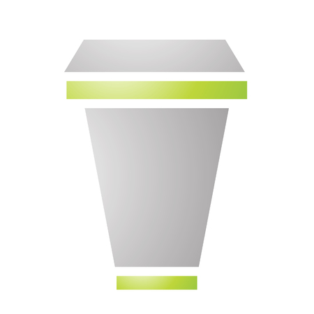 Illustration of Cardboard Coffee Cup isolated on a white background