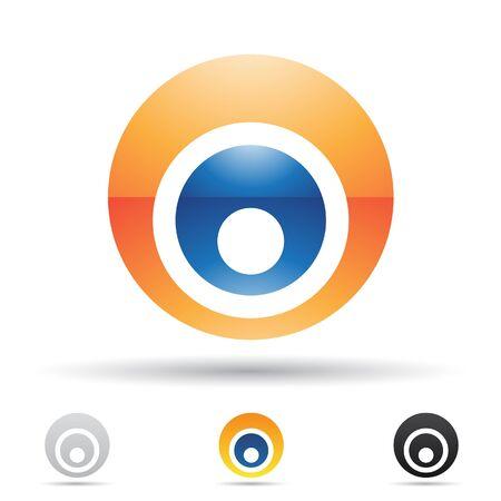 logos de empresas: Ilustración de vector de iconos abstractas basada en la letra o Foto de archivo