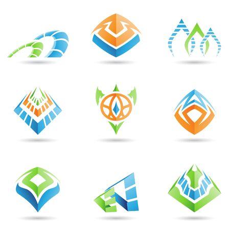 mystical: Vector illustration of mystic pyramid like symbols