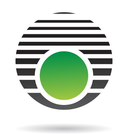 Abstract round logo icon and design element