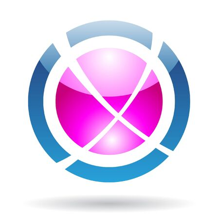 sphere logo: Abstract orbit logo icon and design element