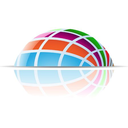 Abstract dome logo icon and design element Stock Photo