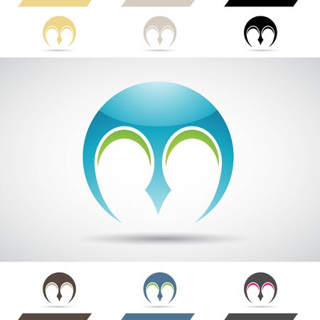 art logo: Design Concept of Colorful Stock Logos Icons and Shapes of Letter M, Vector Illustration