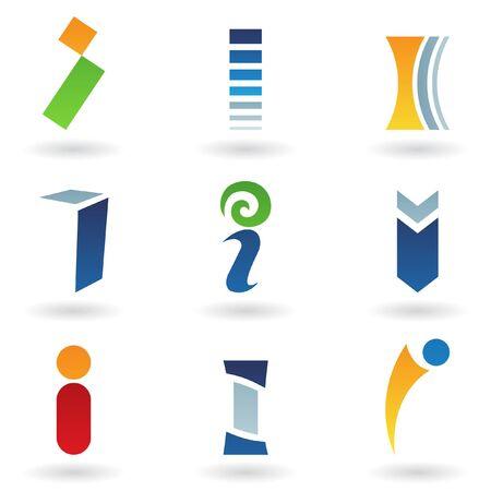 rectangulo: Ilustración de vector de iconos abstractas basada en la letra I