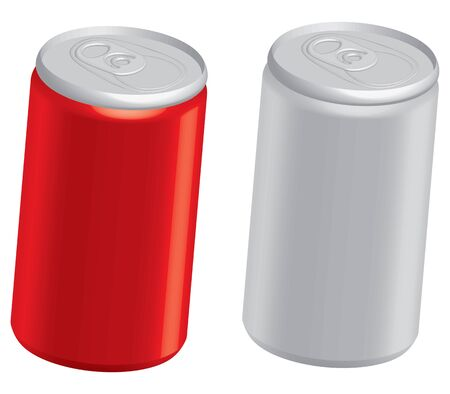 cola canette: illustration des canettes de cola isolé sur blanc