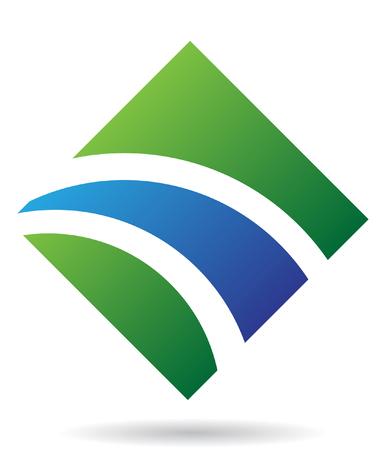 Abstract diamond logo icon and graphic design