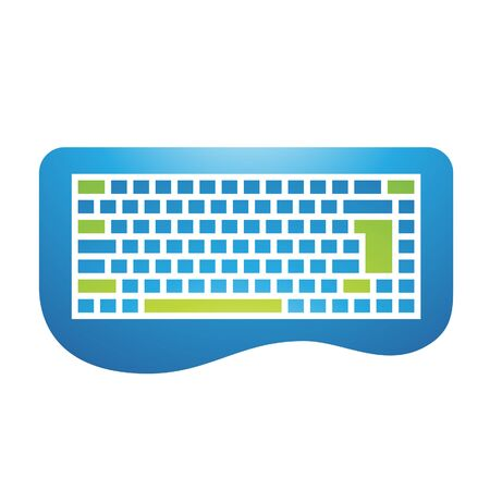escape key: Illustration of PC Accessories Keyboard Icon isolated on a white background