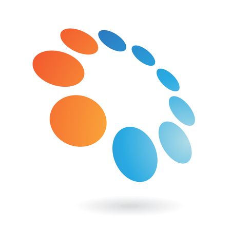 pattern corporate identity orange: Distorted shape logo icon and design element