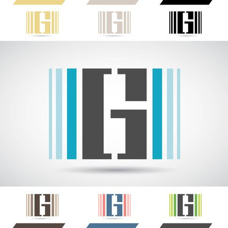 stock clipart icons: Design Concept of Colorful Stock Logos Icons and Shapes of Letter G, Vector Illustration