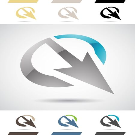 stock clipart icons: Design Concept of Colorful Stock Logos Icons and Shapes of Letter Q, Vector Illustration