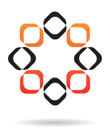 geometric lines: Abstract logo icon and design element