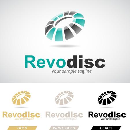 revolving: Green and Black Round Glossy Revolving Logo Icon Vector Illustration