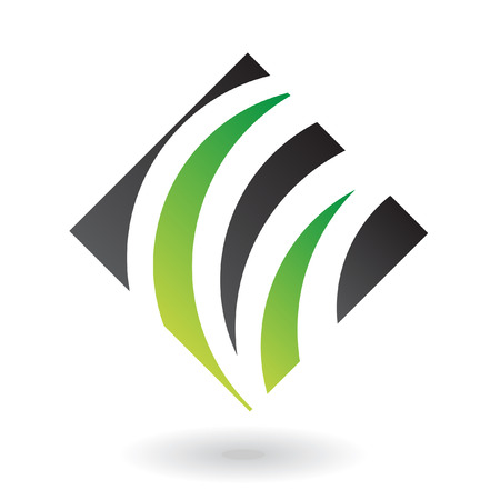 Abstract green diamond logo icon and design element