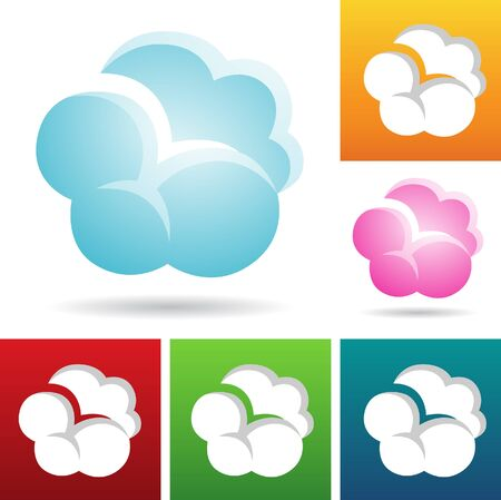 windows 8: vector eps illustration of colorful cloud icons Stock Photo