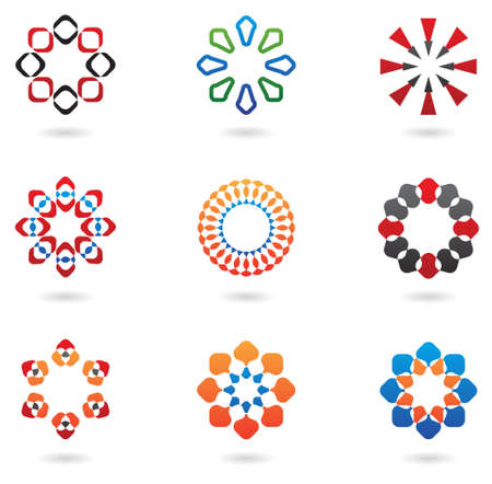 abstract design elements: colourful abstract icons and design elements Stock Photo
