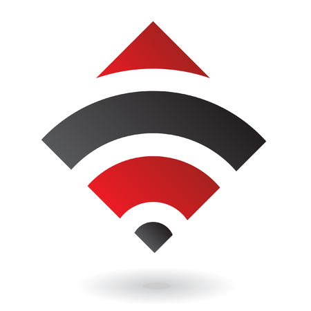 Abstract red diamond logo icon and design element