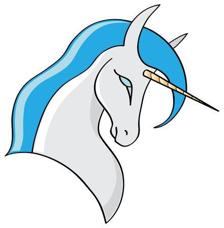 Vector illustration of a cartoon Unicorn Stock Photo