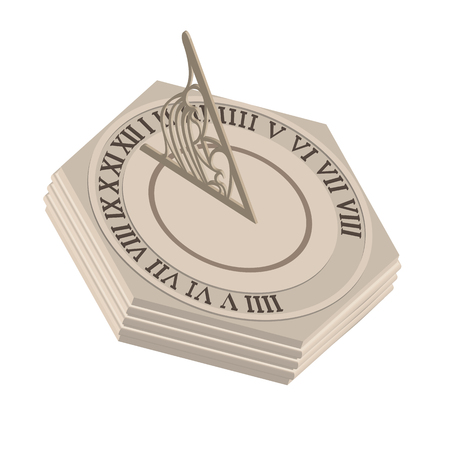 reloj de sol: relojes antiguos: ilustración vectorial reloj de sol