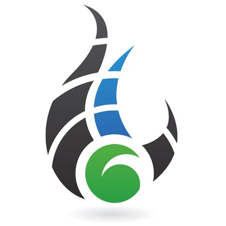 Abstract dynamic logo icon and design element