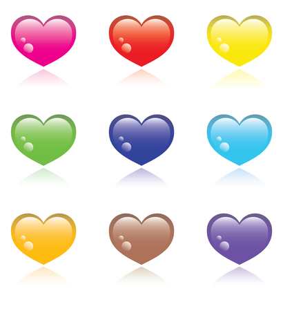 Colorful Hearts icons