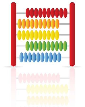 sums: Abacus icon isolated on a white background