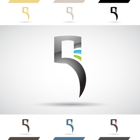 stock clip art: Design Concept of Colorful Stock Logos Icons and Shapes of Letter Q, Vector Illustration