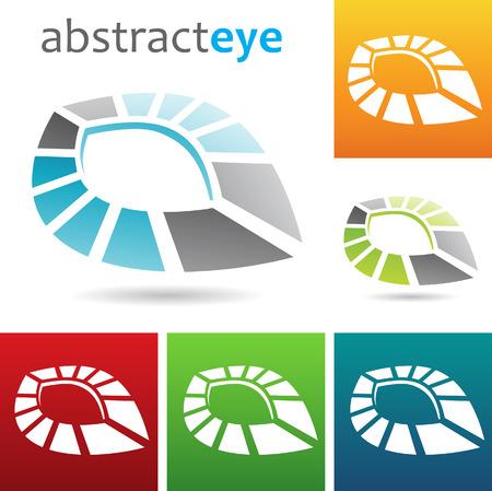 windows 8: Vector illustration of geometric abstract eye shape