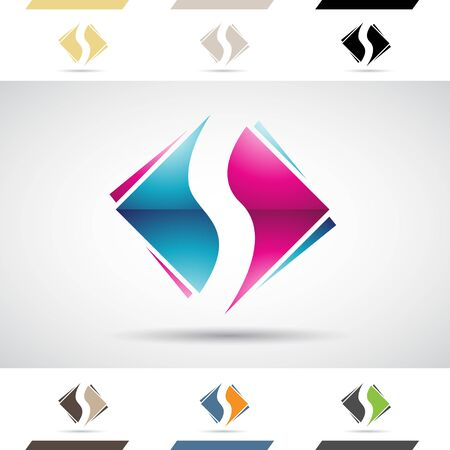 stock clipart icons: Design Concept of Colorful Stock Logos Icons and Shapes of Letter S, Vector Illustration