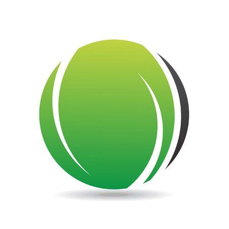 Green round logo icon and design element