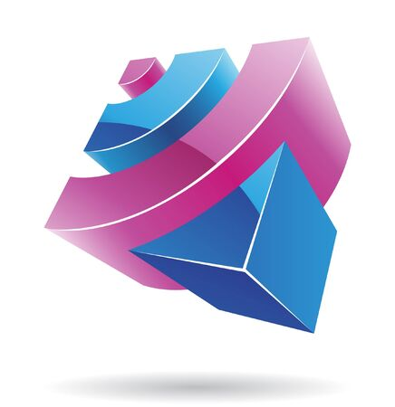 cubic: Abstract cubic logo icon and graphic design Stock Photo