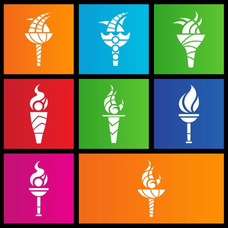 windows 8: Vector EPS illustration of metro style torches