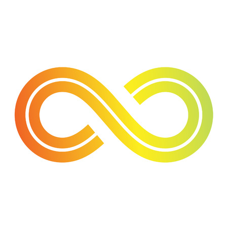 mobius loop: Illustration of Infinity Symbol Design isolated on a white background Stock Photo