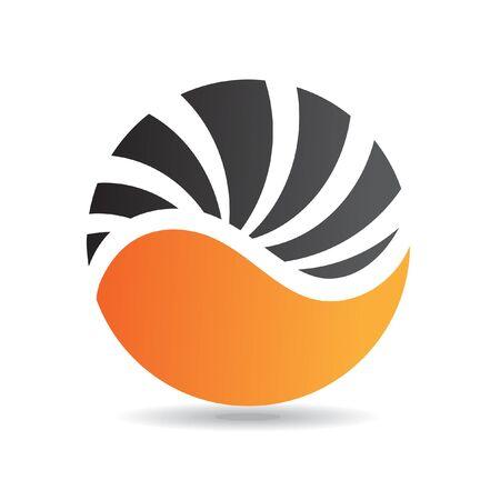 logos de empresas: El logotipo redondo de color naranja icono y elementos de diseño