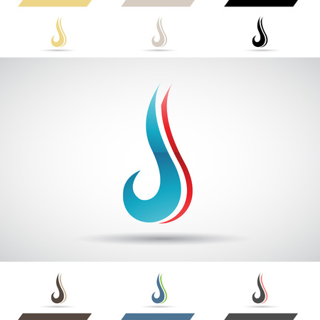 letter j: Design Concept of Colorful Stock Logos Icons and Shapes of Letter J, Vector Illustration