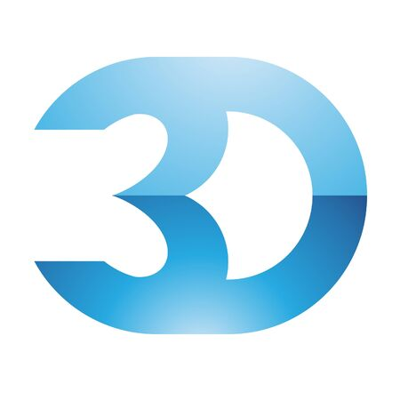 stereoscope: Illustration of 3d Display Technology Symbol isolated on a white background Stock Photo