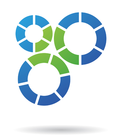 Abstract cog logo icon and design element