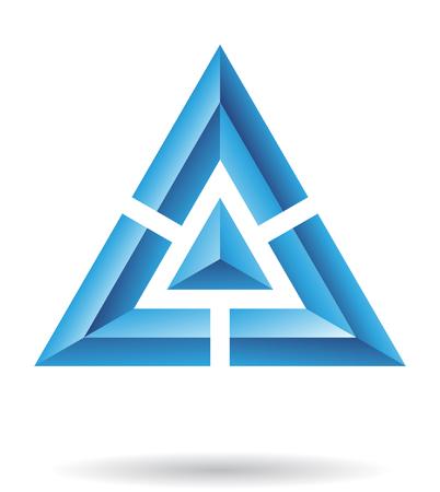 triangulo: Resumen icono del logotipo y diseño gráfico