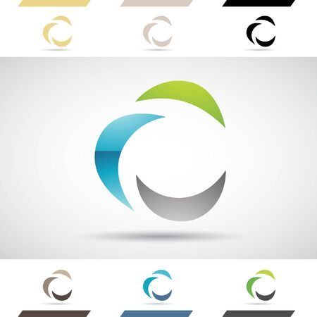 stock clip art icon: Design Concept of Colorful Stock Logos Icons and Shapes of Letter C, Vector Illustration Stock Photo