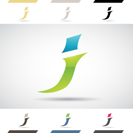 Design Concept of Colorful Stock Logos Icons and Shapes of Letter J, Vector Illustration