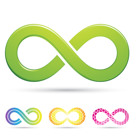 Vector illustration of sleek style Infinity Symbols Stock Photo