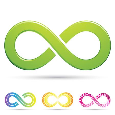 mobius symbol: Vector illustration of sleek style Infinity Symbols Stock Photo