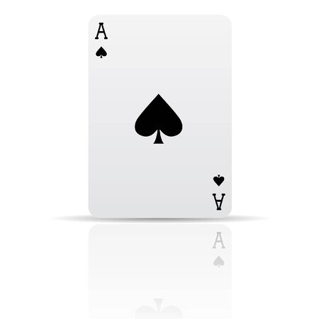 joker playing card: Suit spades card isolated on white