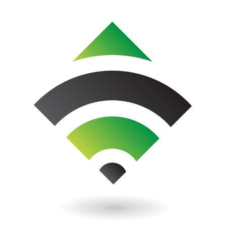 logo informatique: Abstract green diamond logo icône et élément de design Banque d'images