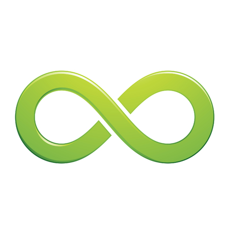 mobius strip: Illustration of Infinity Symbol Design isolated on a white background Stock Photo