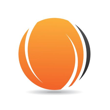 pattern corporate identity orange: Abstract round orange logo icon and design element