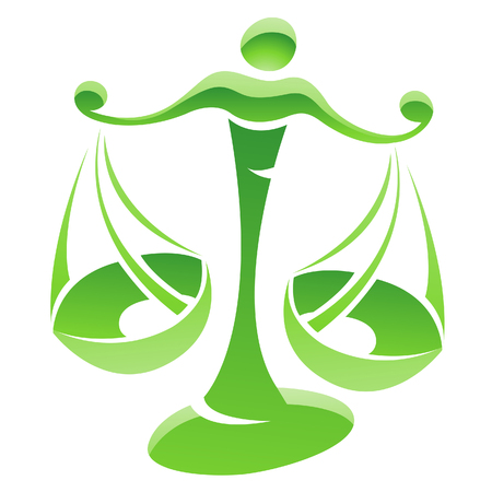 libra zodiac: Illustration of Libra Zodiac Star Sign isolated on a white background