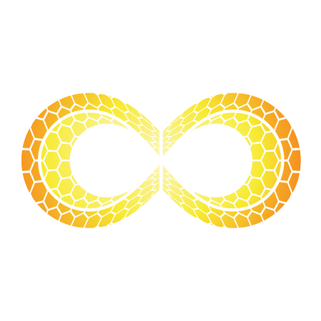 Illustration of Infinity Symbol Design isolated on a white background Stock Photo