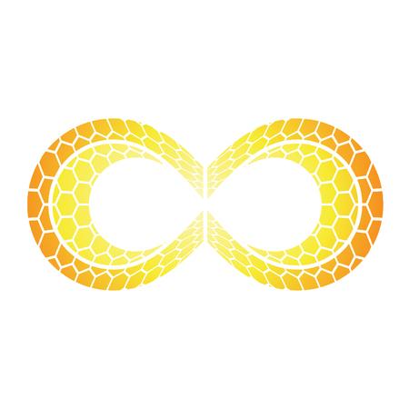 eternity: Illustration of Infinity Symbol Design isolated on a white background Stock Photo