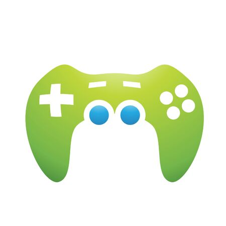 joy pad: Illustration of PC Accessories Game Controller isolated on a white background